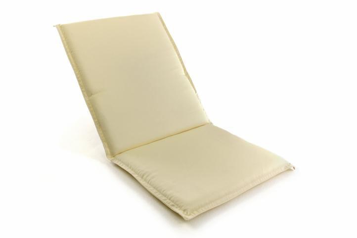 Divero 38756 Polstrování na nízké zahradní židle - krémové