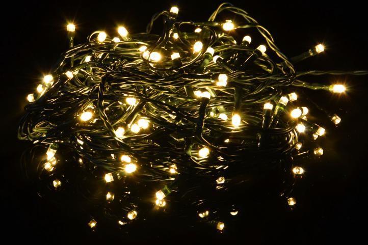 Vánoční světelný řetěz 100 LED - 9 blikajících funkcí - 9,9 m