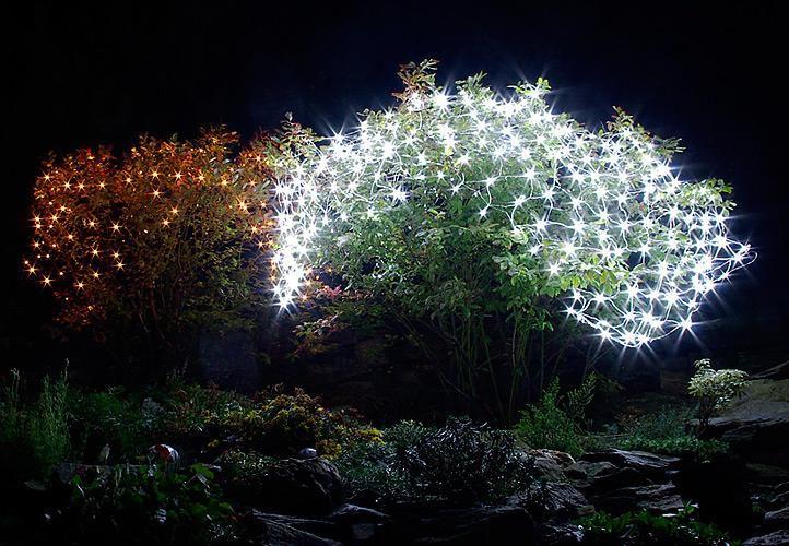 Vánoční LED světelná síť - 2 x 2 m, 160 diod, studeně bílá