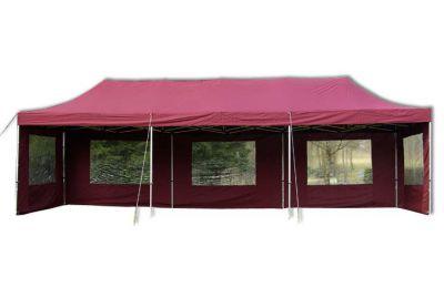 Zahradní skládací párty stan PROFI - vínový, 3 x 9 m