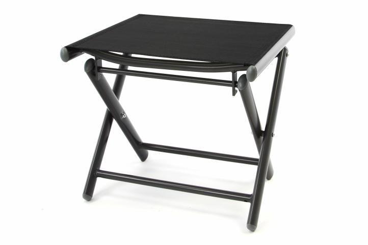 Hliníková zahradní stolička - skládací celá černá