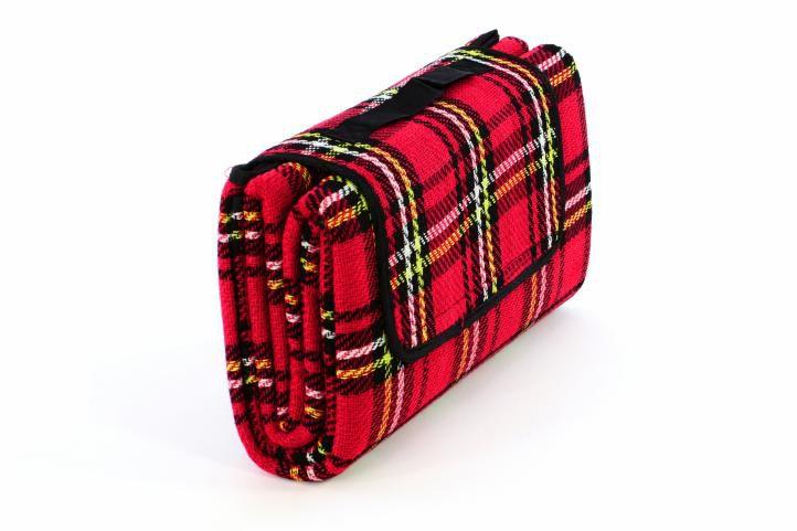 Garthen 40609 Pikniková deka - červená kostka 150 x 130 cm