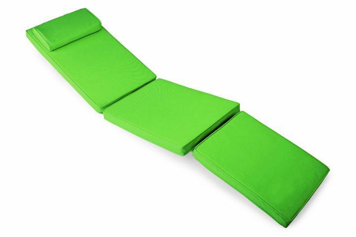 Divero 40739 Polstrování pro lehátko 188 cm - světle zelená