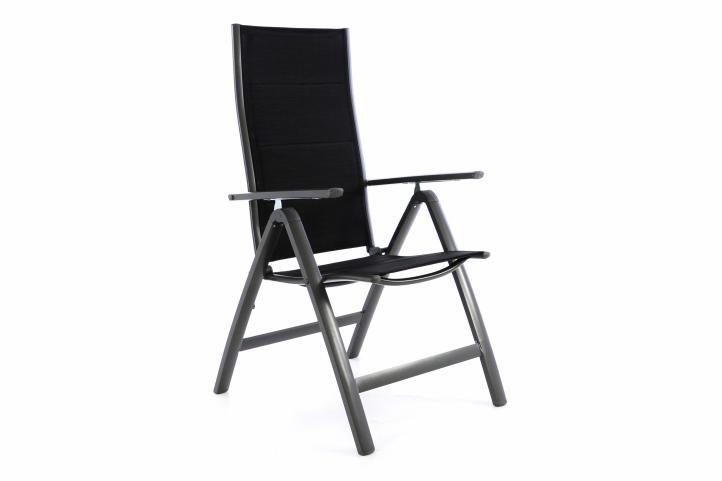 Garthen 40790 Zahradní hliníková židle DELUXE - černá