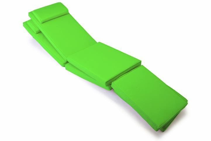 Divero 40801 Sada 2x polstrování pro lehátko 188 cm - světle zelená
