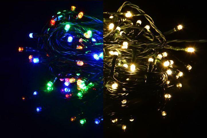 Nexos 41710 Vánoční světelný řetěz 400 LED - 9 blikajících funkcí - 39,9 m