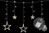 Vánoční LED řetěz - hvězdy, 0,6 m, 61 LED, teple bílé