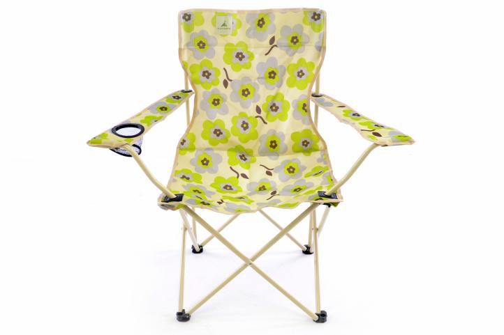 Divero 43245 Sada 2x Skládací židle béžová - květinový vzor