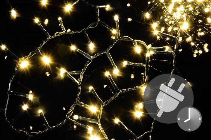 Nexos Vánoční LED osvětlení 1000 diod - bohatý řetěz - teple bílá 20 m