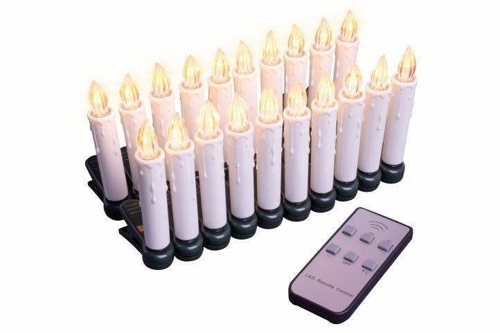 Nexos 47233 Vánoční svíčky na stromeček - bezdrátové - 20 ks