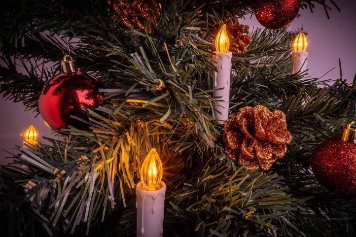Vánoční svíčky na stromeček - bezdrátové, 20 ks