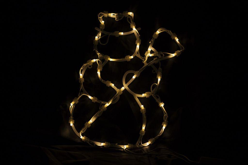 Vánoční LED dekorace do okna - SNĚHULÁK - 40 cm
