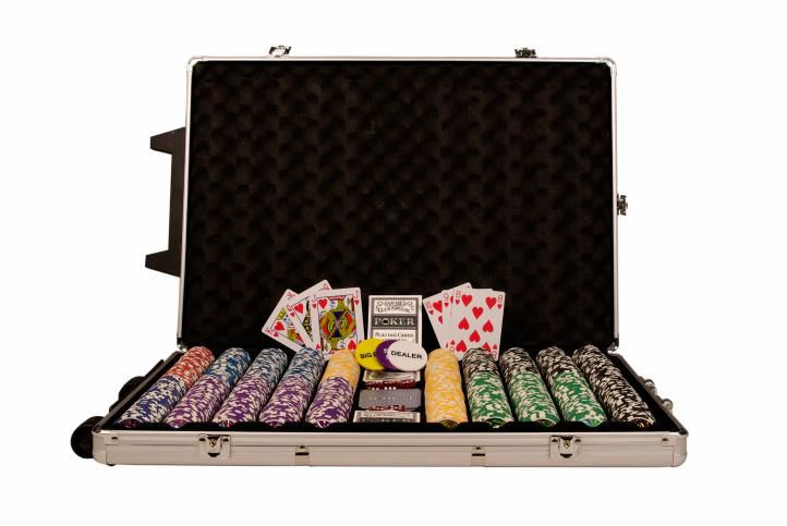 Poker set 1000 ks žetonů OCEAN Trolley CHAMPION CHIP