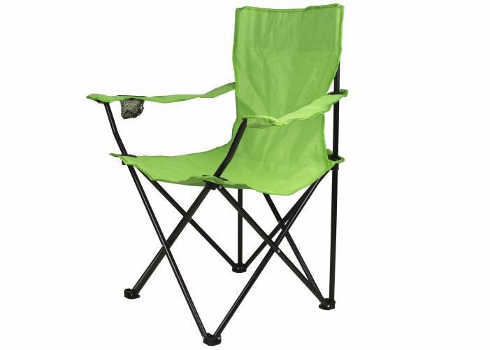 Skládací židle s držákem - světle zelená