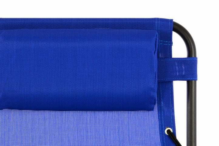 Zahradní skládací houpací lehátko s podhlavníkem - modré