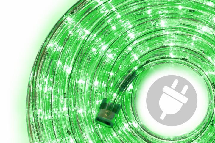 Fotografie Nexos 552 LED světelný kabel 20 m - zelená, 480 diod