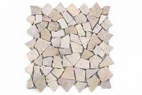 Mramorová mozaika DIVERO béžová/růžová 11 sítěk 1 m²