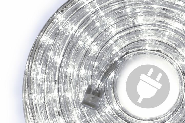 Fotografie Nexos 555 LED světelný kabel 20 m - studená bílá, 480 diod