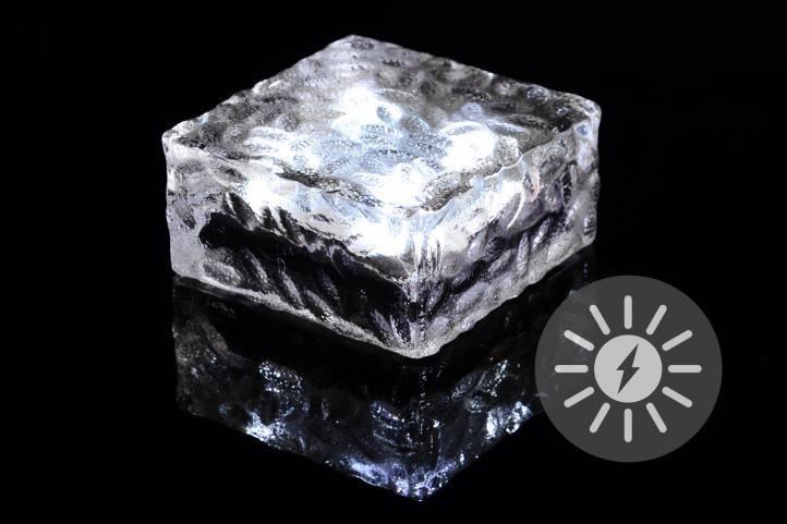 Nexos 55824 solární osvětlení - cihla 4 LED bílá 9,5 x 9,5 x 4,5 cm