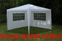 Sada 2 bočních stěn pro zahradní stan - bílá