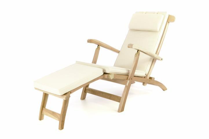 DIVERO Florentine 57035 Zahradní dřevěné lehátko + polstrování - béžové