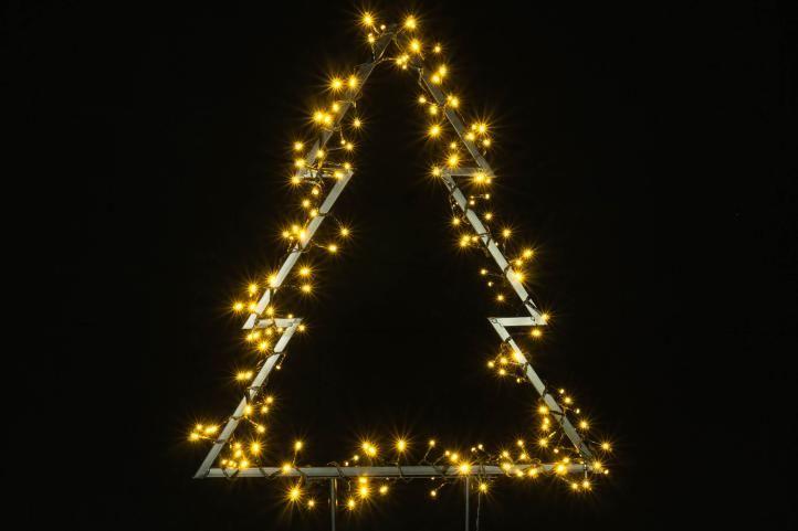 Vánoční LED dekorace - STROM - 175 LED 75 cm