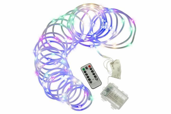 Nexos 57382 Vánoční LED osvětlení - MINI kabel - 10 m barevné