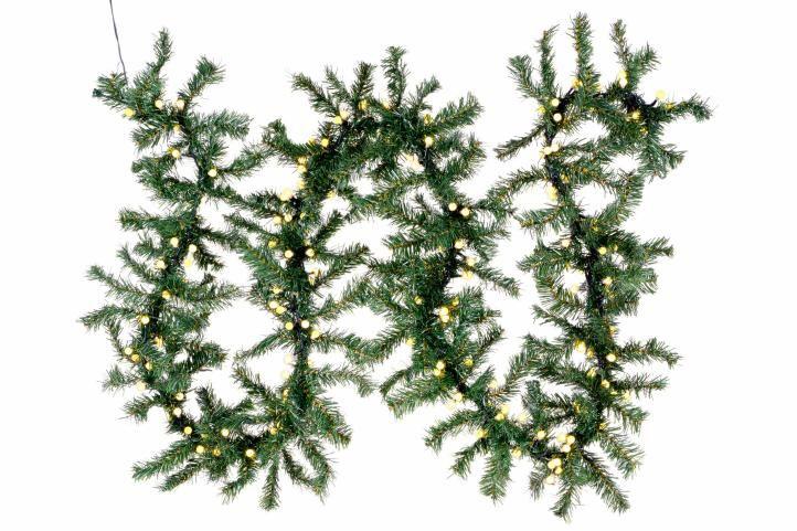 Nexos 57411 Vánoční dekorace - girlanda s osvětlením 2,7 m - 200 LED teple bílá