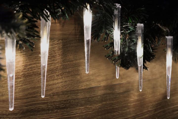 Vánoční dekorativní rampouchy, 60 LED, studeně bílé