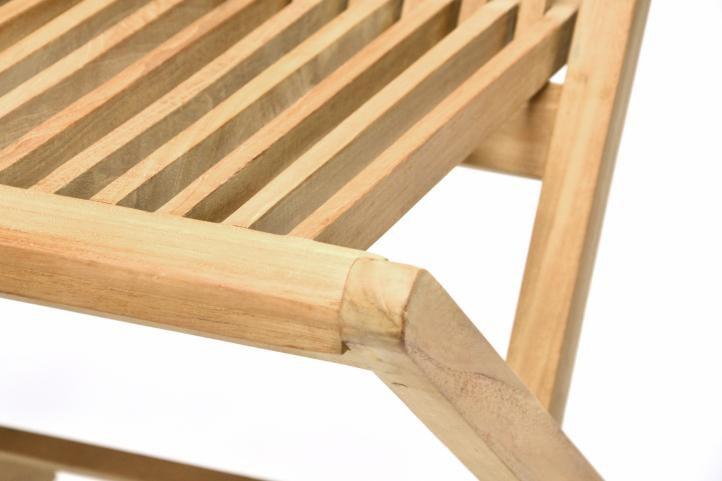 Zahradní skládací židle DIVERO - týkové dřevo