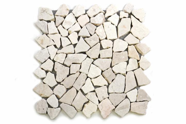 Divero 604 Mramorová mozaika Garth krémová - 1 m2