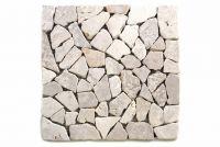 Mramorová mozaika Garth- bílá obklady 1 m2