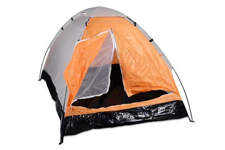 Garthen 6147 Rodinný stan pro 6 osob - oranžová/černá