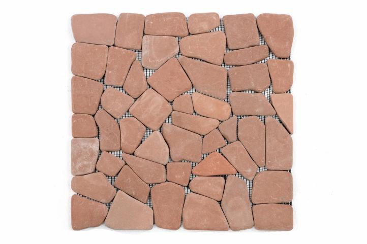 Divero 636 Mramorová mozaika Garth - červená / terakota 1 m2