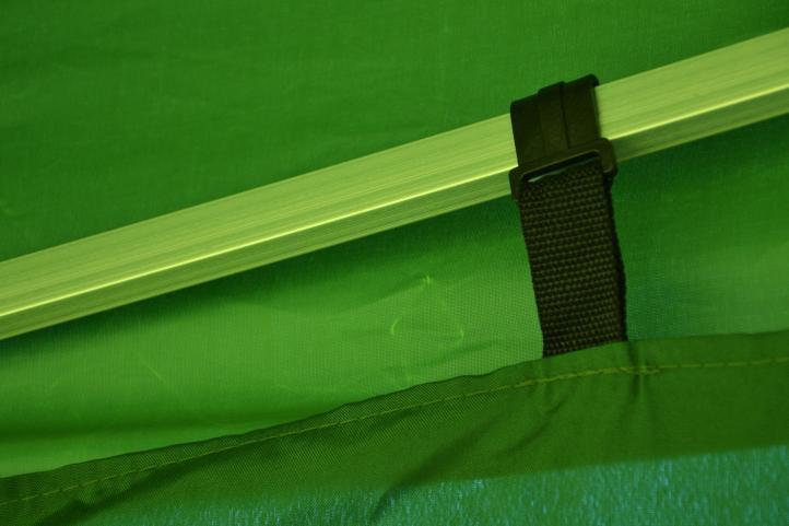Zahradní párty stan nůžkový PROFI 3x3 m zelený + 4 boční stěny
