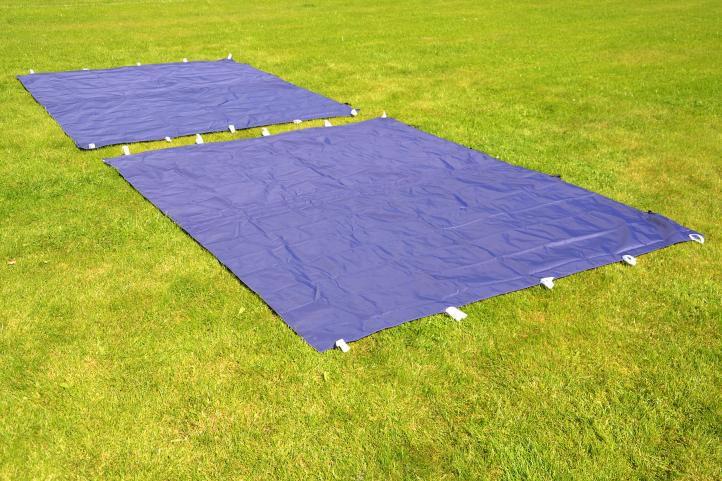 Zahradní párty stan nůžkový PROFI 3x3 m modrý + 4 boční stěny