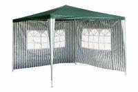 Zahradní párty stan - zelený 3 x 3 m + 2 boční stěny