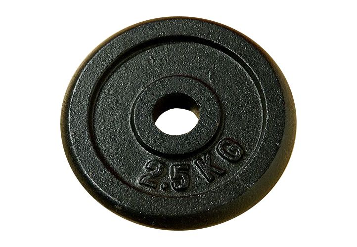 Garthen 677 Závaží na činky 2,5 kg černé litina