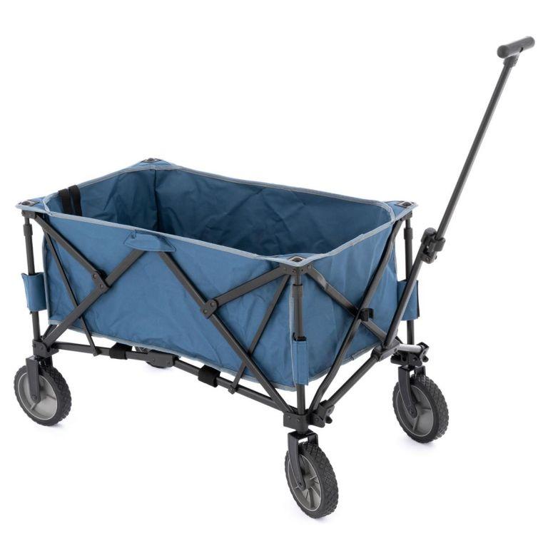 Garthen Transportní skládací vozík - modrý