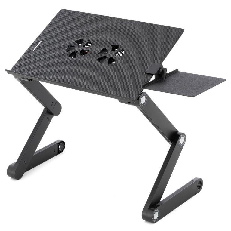 Garthen Notebookový stůl s USB - 42 x 28 cm, chlazení