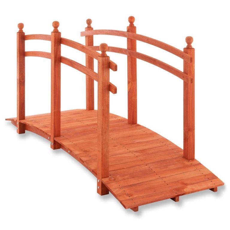 Garthen Zahradní dřevěný můstek se zábradlím - 235 x 75 x 109 cm