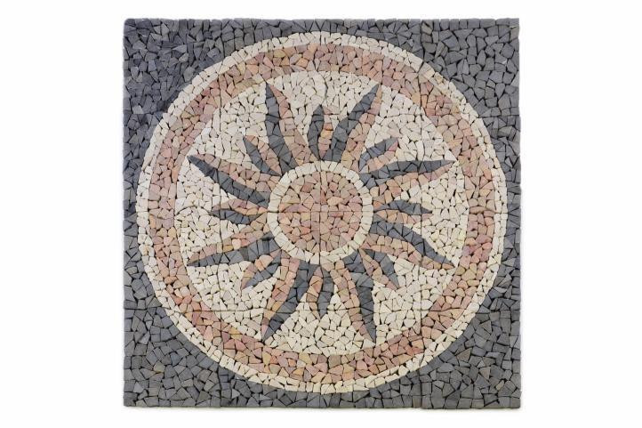 Divero 765 Mramorová mozaika - motiv slunce 120x120