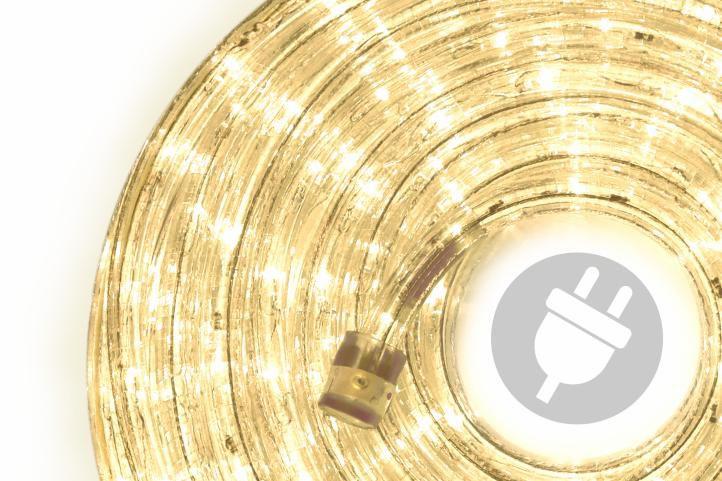 LED světelný kabel - 240 diod, 10 m, teple bílý