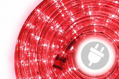 LED světelný kabel - 480 diod, 20 m, červený