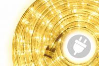 LED světelný kabel 10 m - žlutá 240 diod