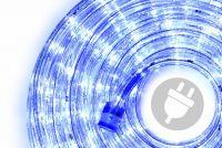 LED světelný kabel 10 m - modrá, 240 diod