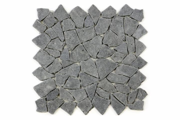 Divero 9524 Mozaika z andezitu černá / tmavě šedá 33 X 33 cm
