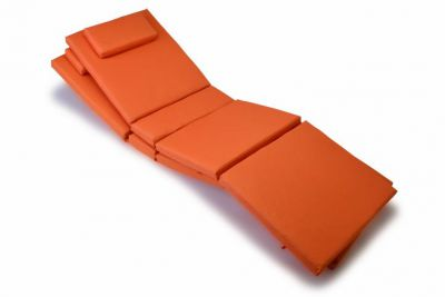 Sada 2x polstrování na lehátko Garth - oranžová