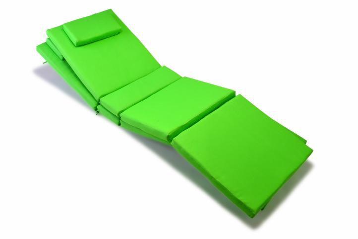 Divero 9602 Sada 2x polstrování na lehátko - zelená