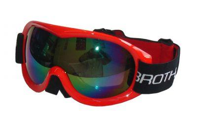 Lyžařské brýle BROTHER - dvojsklo - červené